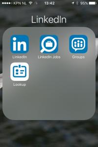 linkedin-scherm op smartpone